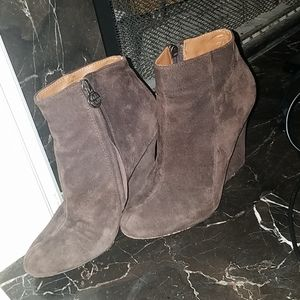 Brown Suede Sam Edelman Ankle Boots